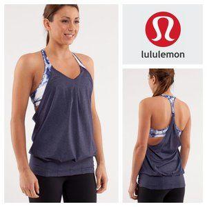 Lululemon Practice Freely Tank Heathered Deep Indigo in Size 8